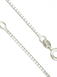 Sterling Silver light box link chain