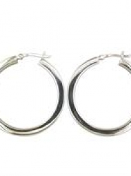 Heavy thick Sterling Silver Hoops 45mm