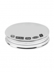 Sterling Silver Oval Pill Box