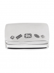 Sterling Silver pill box (rectangle)