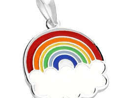 Sterling Silver Rainbow Pendant & chain