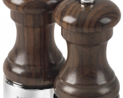 Silver hallmarked salt and pepper mills