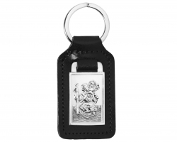 Sterling Silver St christopher key ring